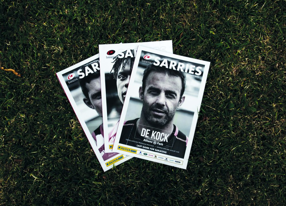 Saracens Programme Covers